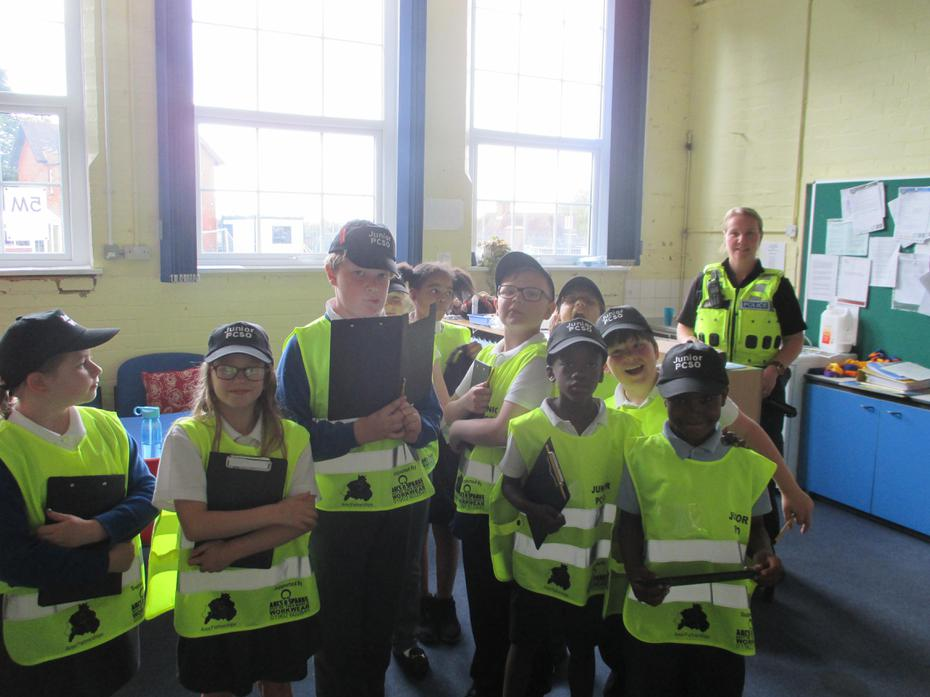 Abbey Junior PCSO's Road Safety Patrol activity