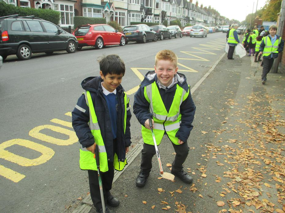 Ready with our litter pickers!