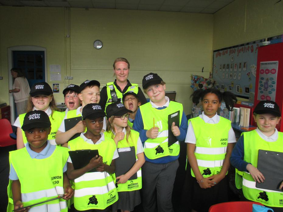 Abbey Junior PCSO's ready for action!