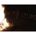 Geoff leading the campfire songs!