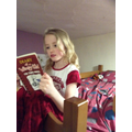 Phoebe, just about to commence story time!