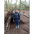Theo and his marvellous shelter