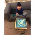 Playing Scrabble - brilliant idea!