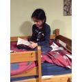 Amanpreet enjoying a quiet read.