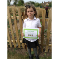 Well done Evie Thank you for all your help