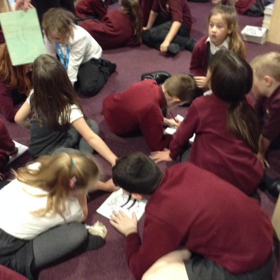 All busy tracing our pictures
