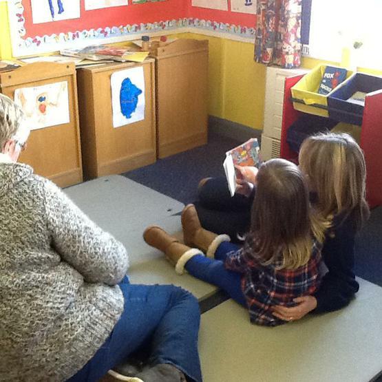 Enjoying a story.