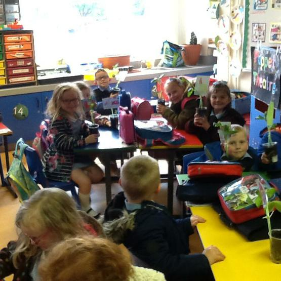 We talked about who would climb the beanstalk!