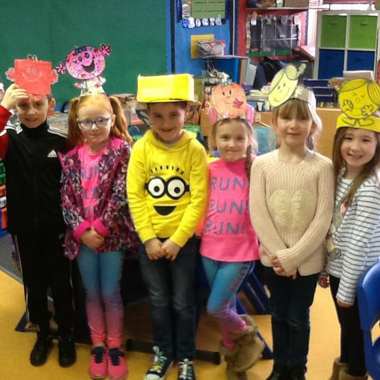 We dressed up as Mr Men and Little Miss.