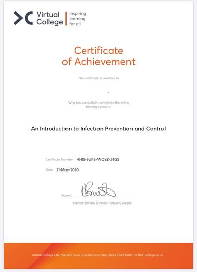 INFECTION & PREVENTION CONTROL