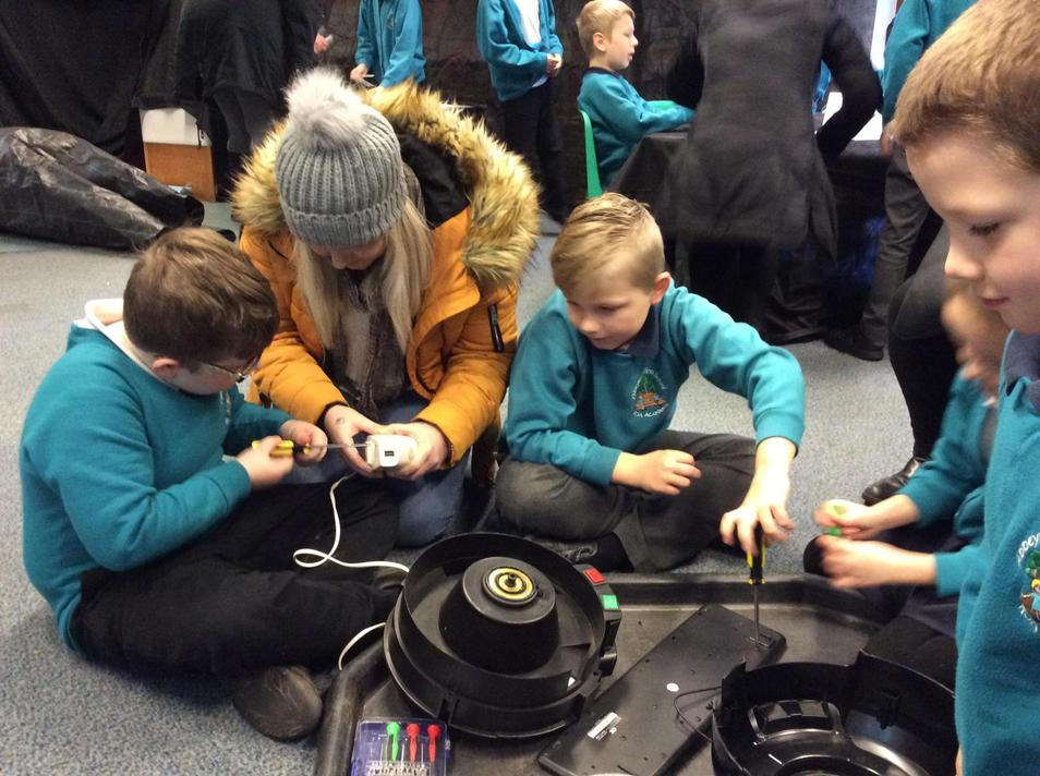 We examined electrical items...