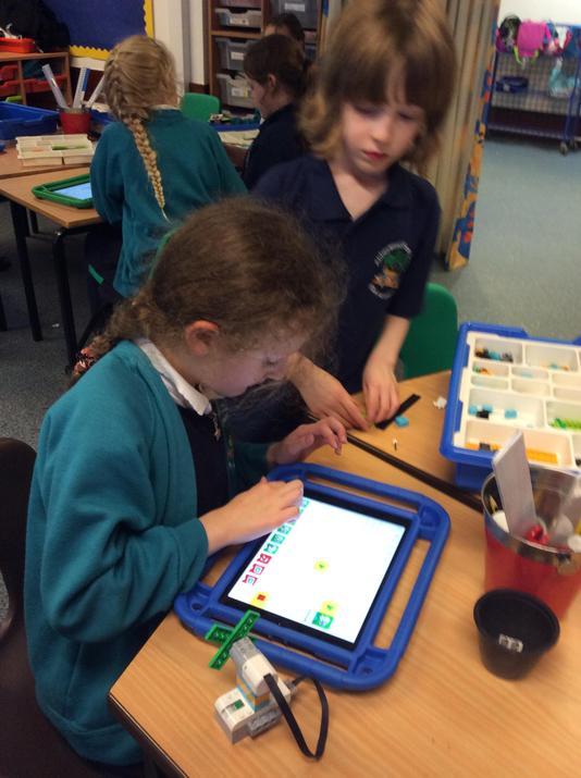 Then we connected our model to the ipad.