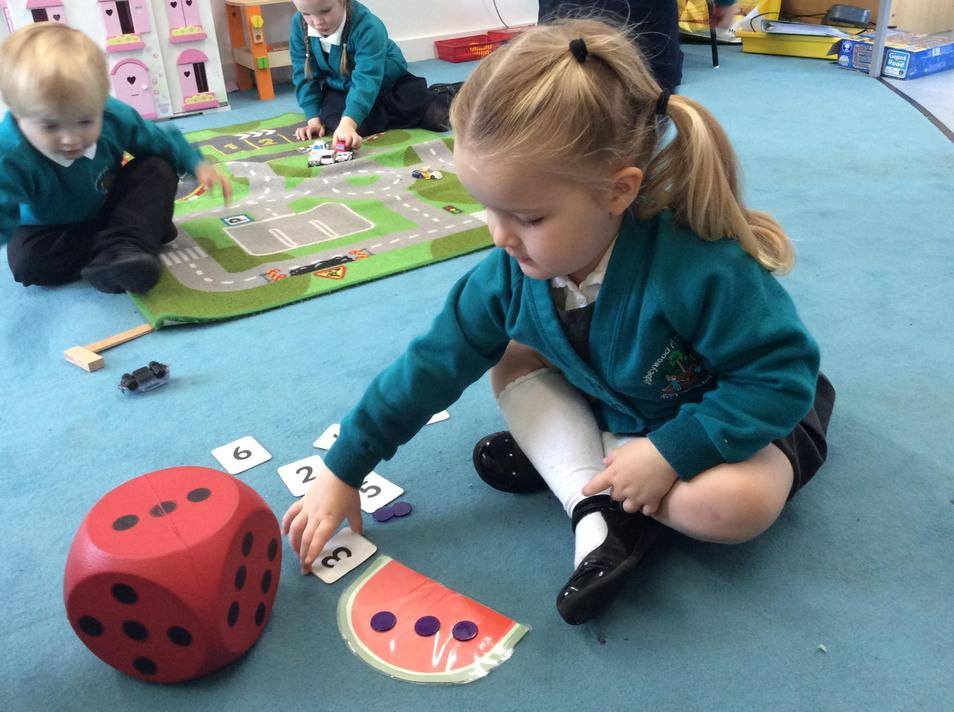 Matching numeral with quantity
