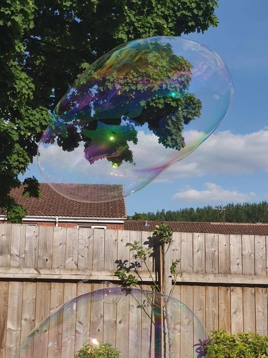 Bubbles in the sun!