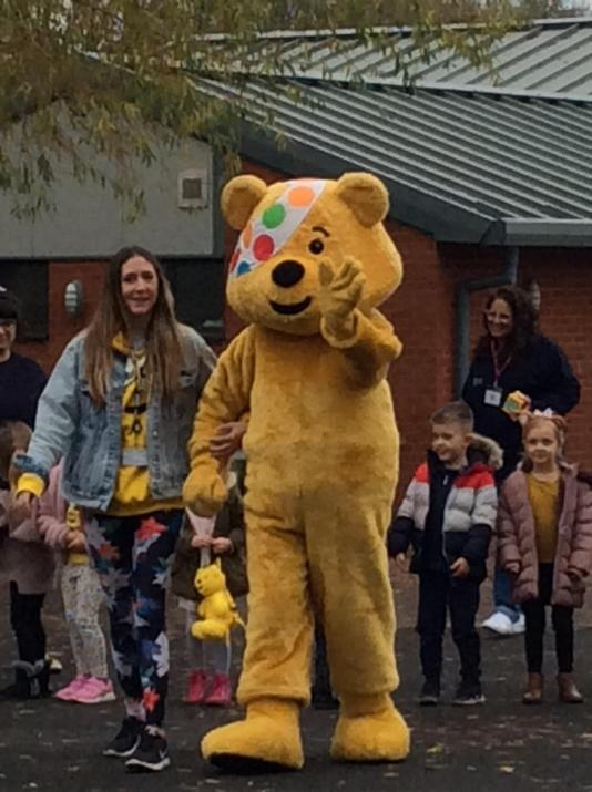 Pudsey bear came to visit.