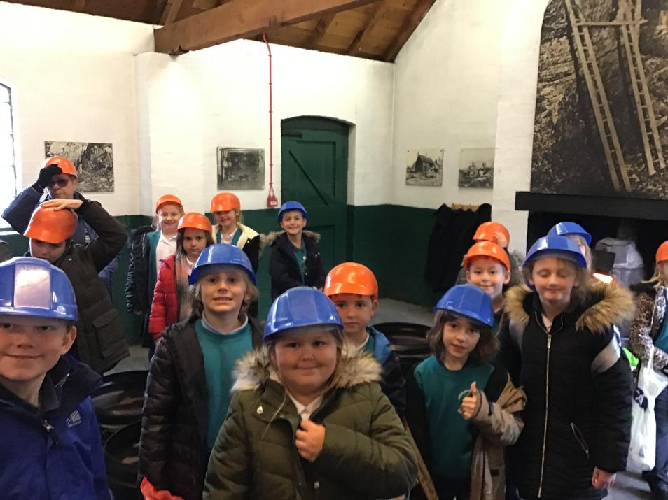 Ready to go down the mine ...