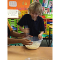 The balloon whisk was hard work!