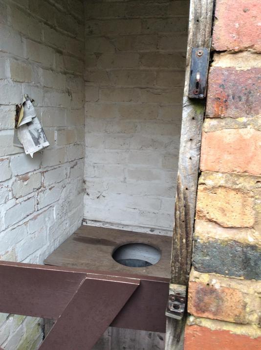 An outside toilet!