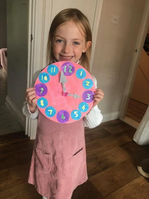 A pretty clock to match your smile Isla.