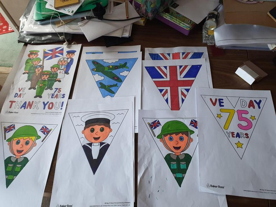 Pip's bunting ready for Friday!