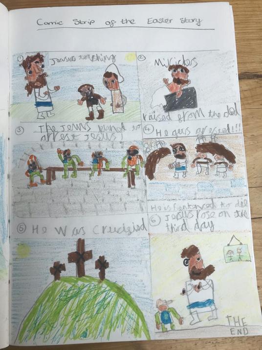Harrison's Easter comic strip!