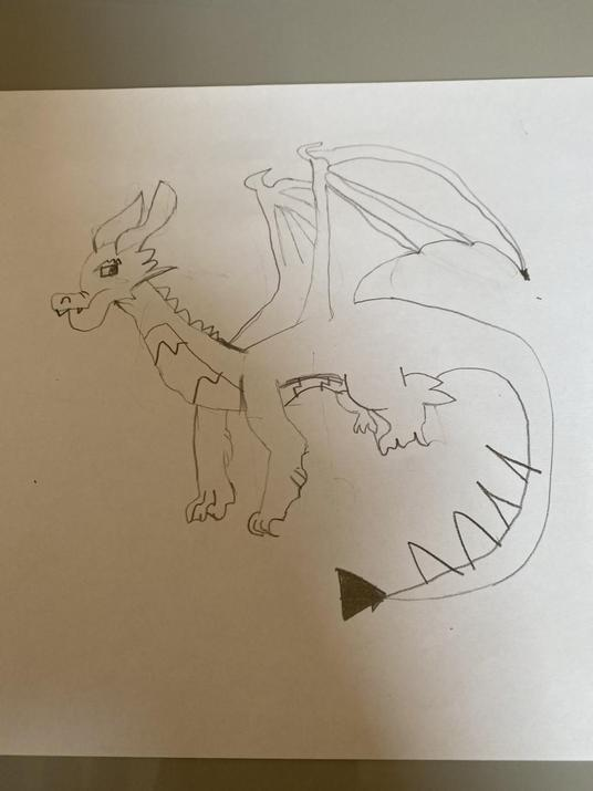 Nathan's amazing dragon (from the egg photo)