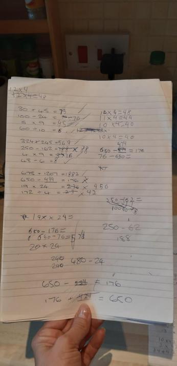 Zakk's daily maths.