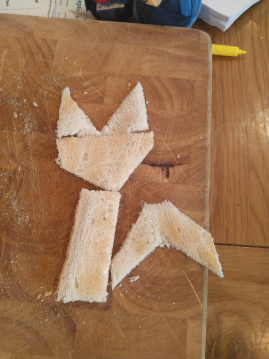 Toast fox tangrams.