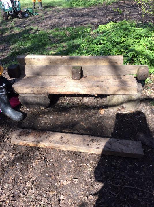 A handmade bench!