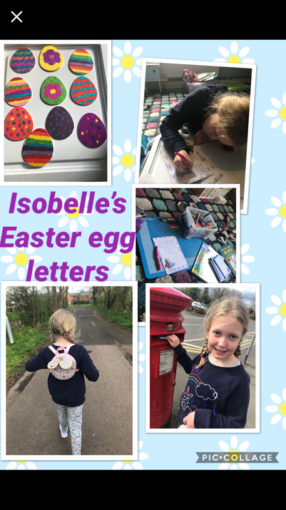 Isobelle was busy over Easter.