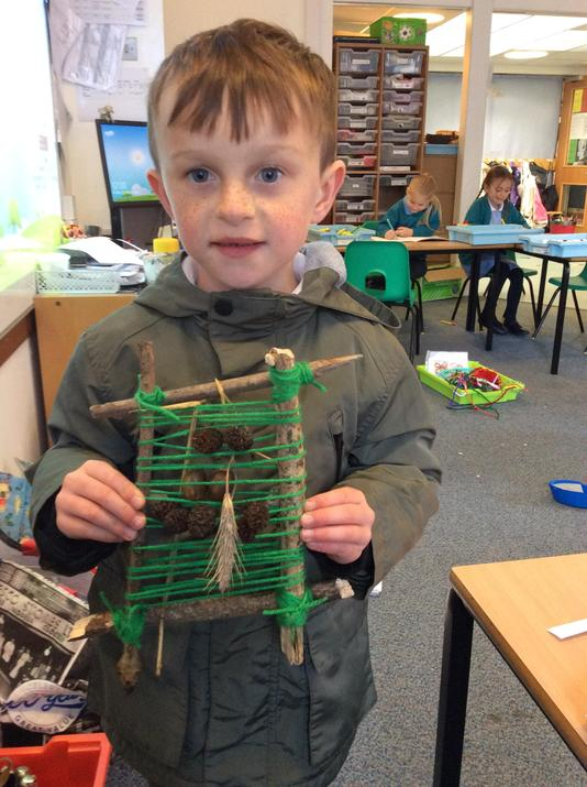 We did weaving with nature.