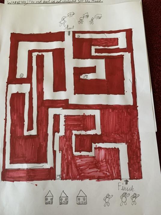 Tudor created a maze.