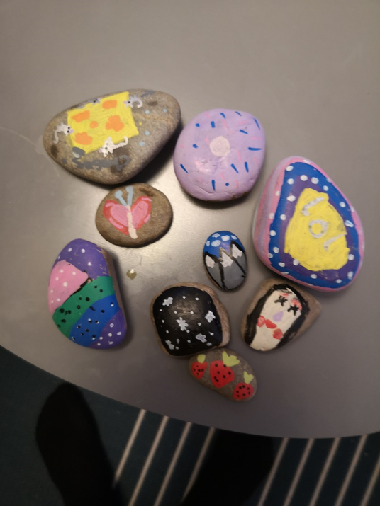 What beautiful painted stones.