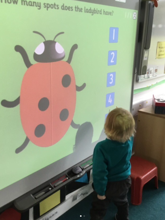 Counting fun on the interactive whiteboard