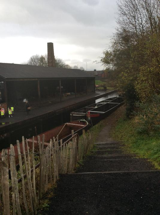 Coal was carried in barges along the canal.