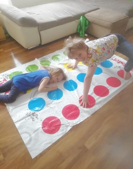 Oli and his brother playing