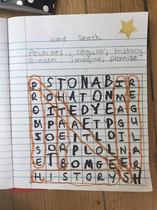 Harrison's word search.