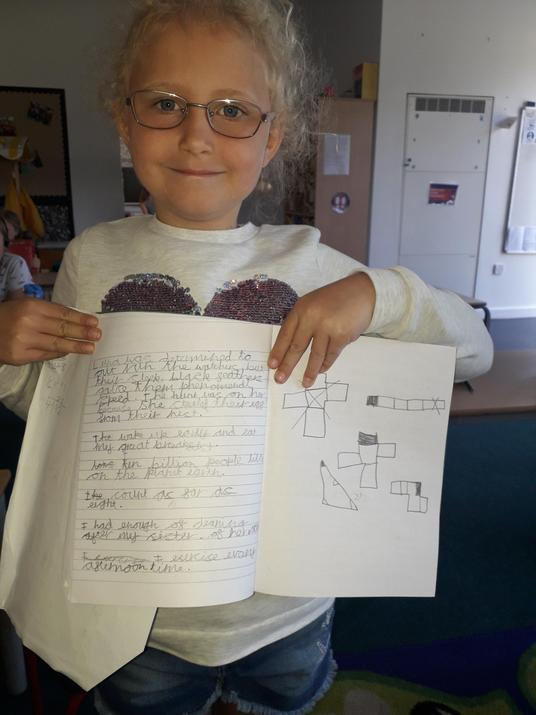 Bethany and her work in school
