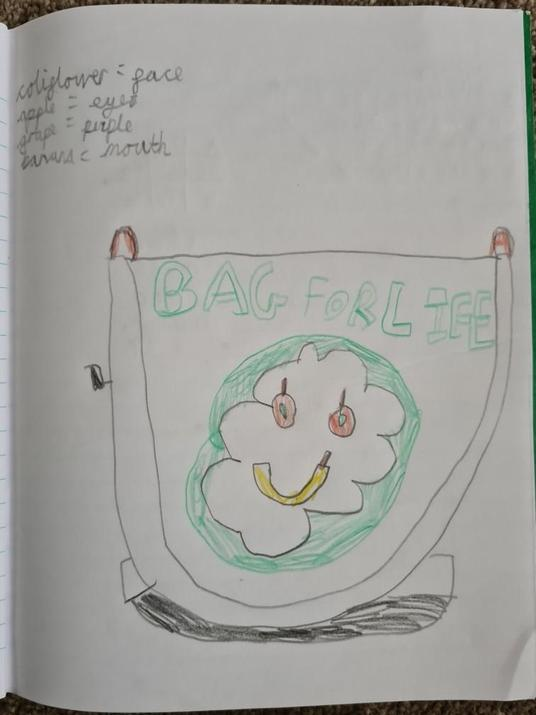 Michael's bag for life design.