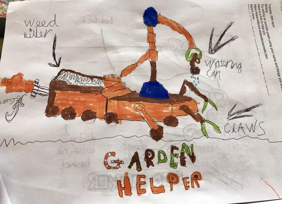 Harrison's garden helper robot!
