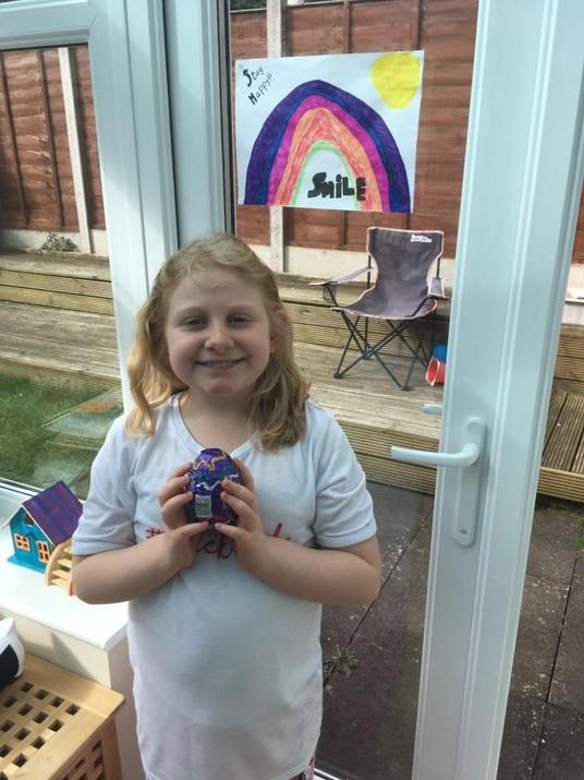 Chloe won a colouring competition!Congratulations!