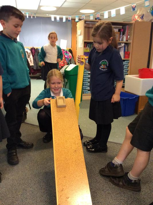 we measured to see how high our slope was.