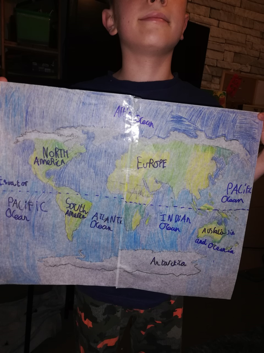 William's map of the world.
