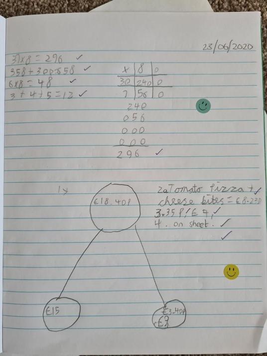 Michael's daily maths.