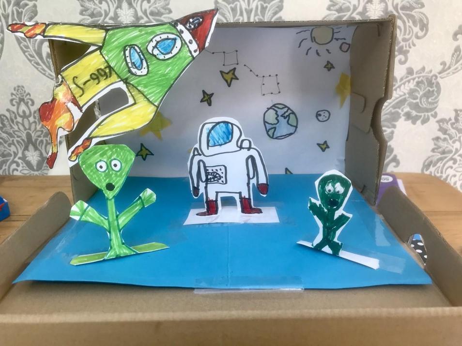 Harrison's amazing 3D space box!