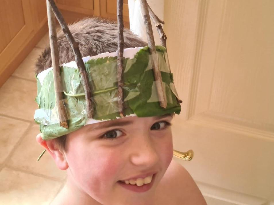 Michael's Olympic headdress