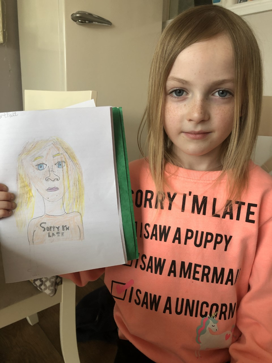 Your self portrait is fantastic Isla.