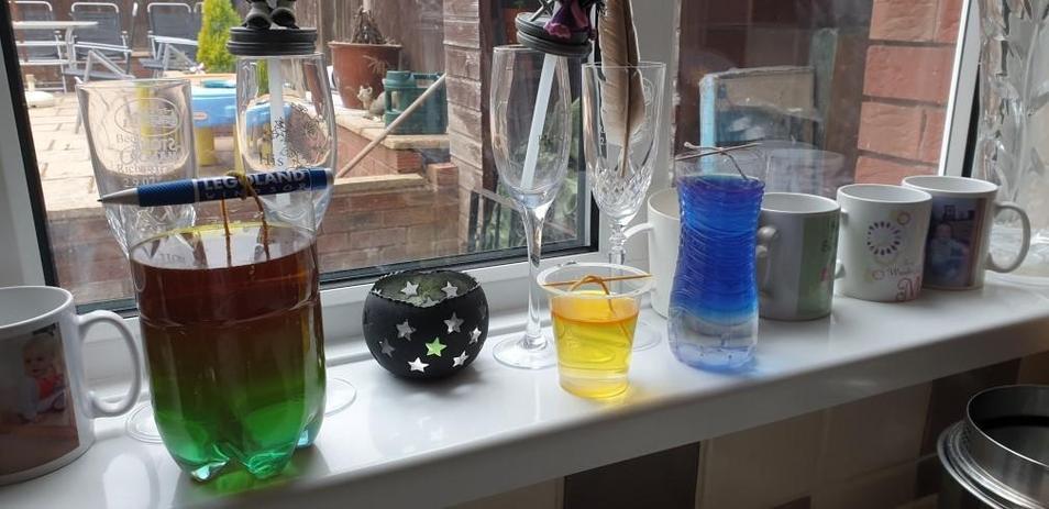 Michael's science lab.