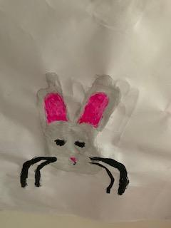 Emmy's hand bunny!