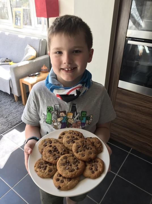 Harrison baked yummy cookies!